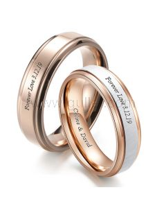 Promise Rings with Name Birthday Gift for Couples