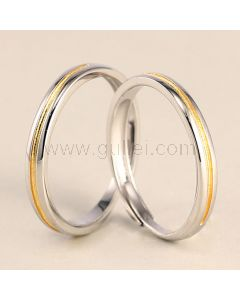 Expandable Silver Couples Rings Set for Thick Knickles