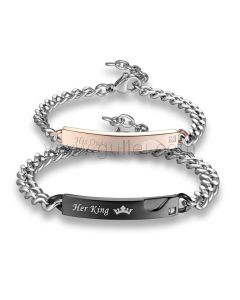 Couple Promise Bracelets His King Her Queen