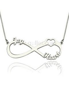 Infinity Heart Name Necklace K Gold Sterling Silver