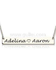 Gold Plated Sterling Silver Custom Name Plate Necklace Gift
