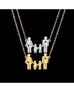 Engraved Matching Daughter Mom Necklaces Gift