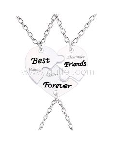3 Piece Best Friends Forever Necklaces Birthday Gift