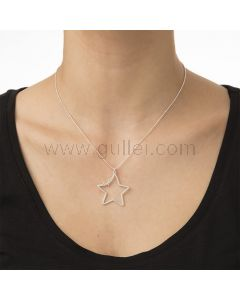 Star Customize Name Pendant Necklace 18K Gold Plated