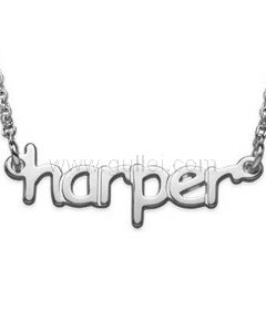 Classic Custom Name Necklace Gold Plating