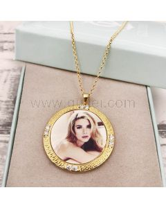 Personalized Color Photo Print Necklace Gift for Wife
