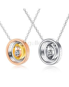 Promise Rings Necklaces for Lovers Set of 2