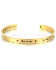 I love You Promise Cuff Bracelet Gift for Her