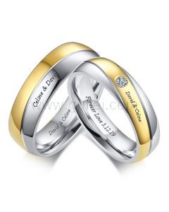 Matching Titanium Engagement Rings for Him and Her