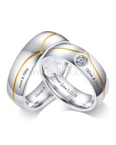 Matching Titanium Anniversary Rings for Him and Her