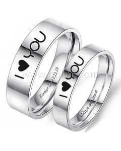 Matching Promise Rings for Him and Her