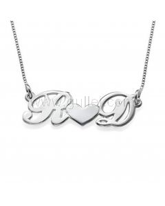 Personalized Name Intials Sterling Silver Necklace