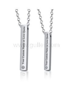 Custom Couple Relationship Necklaces Gift for Him and Her
