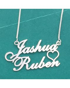 Heart Couple Name Necklace Birthday Gift for Her
