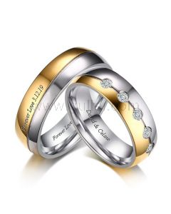 Custom Name Promise Rings for Him and Her