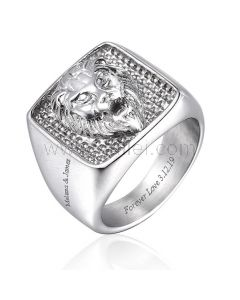 Personalized Lion Wedding Ring for Men