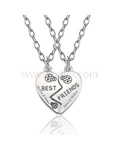 Engraved Bff Best friends Necklaces Birthday Gift