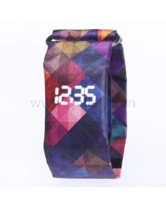 Abstract Led Waterproof Paper Watch Unisex Gift
