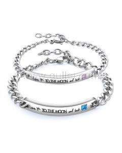King Queen Matching Couple Bracelets Valentines Gift