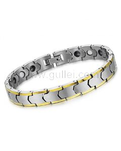 Tungsten Mens Bracelet with Energy Magnets