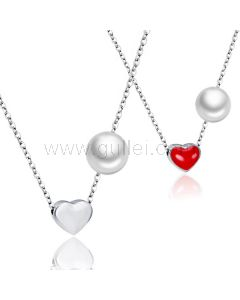 2 PCS Hearts Best Friends Sisters Matching Jewelry