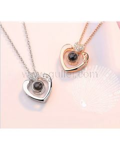 Hearts Light Projection Bff Necklaces Gift Set