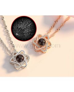 Light Projection Love Necklaces for a Couple