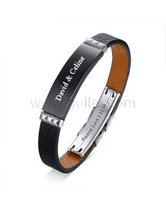 Personalized Love Leather Bracelet for Men