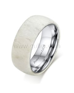 Simple Mens Promise Ring with Names Engraved 8mm