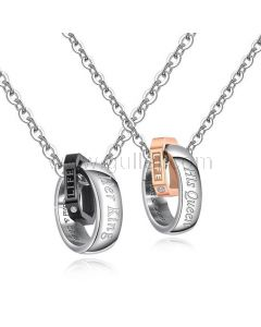 Her King His Queen Couple Promise Necklaces Gift