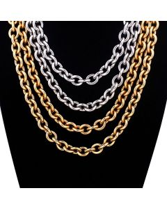 Mens Cable Chain Necklace Stainless Steel