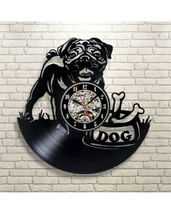 Artistic Vinyl Record Wall Clock Gift for Dog Lovers