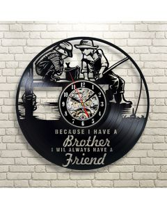 Decorative Vinyl Wall Clock Birthday Gift for Brother