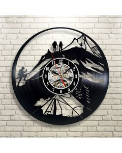 Creative Vinyl Wall Clock Gift for Hiking Enthusiasts