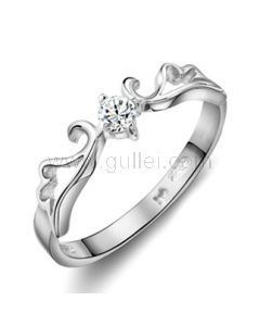 Customized Hollow Wings Popular Wedding Ring for Her