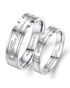 The Flame of Our Love Couple Promise Rings Gift Set