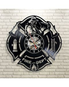 Great Gift for Firefighters Vinyl Wall Clock