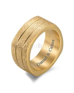 Customized Mens Wedding Band Black Silver Gold 9.5mm