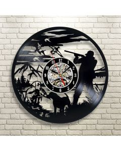 Best Birthday Gift for Hunting Enthusiast Vinyl Wall Clock