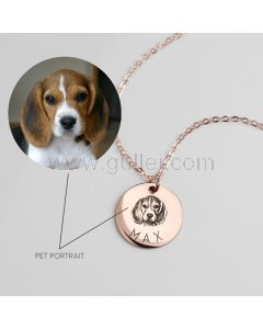 Personalized Photo Necklace Gift for Pet Lovers