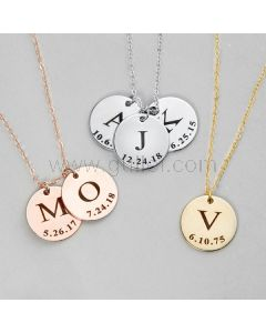 Personalized Initial Name Necklace Gift for Her