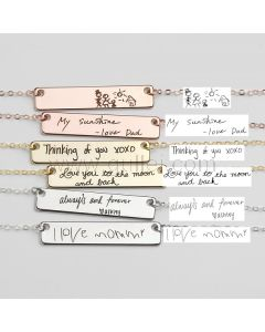 Custom Handwriting Necklace Gift for Wife or Girlfriend