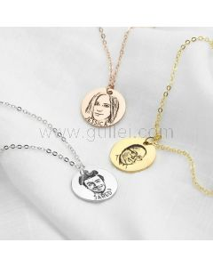 Custom Photo Necklace Gift for Girlfriend or Baby Girl