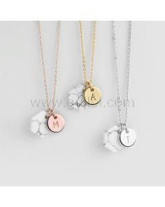 Personalized Name Initial Dainty Necklace Gift for Wife