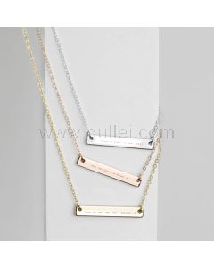 Custom Morse Code Name Plate Necklace Gift for Her