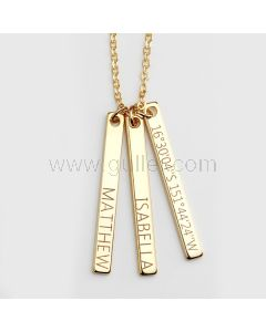 Name Engraved Bar Necklace Birthday Gift For Her