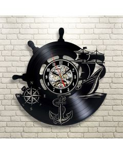 Best Birthday Gift for Sailers Vinyl Clock for Bed Room Wall