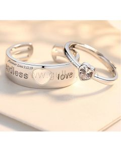 Endless Love Promise Rings Couple Valentines Gift (Adjustable Size)