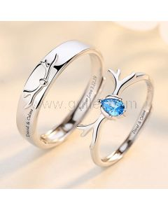 Matching Friendship Promise Rings (Adjustable Size)