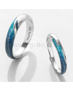 Engraved Anniversary Rings Gift for Him and Her (Adjustable Size)